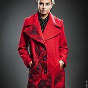Одежда ручной работы. Ярмарка Мастеров - ручная работа Пальто дизайнерское из шерсти Камилла. Handmade.