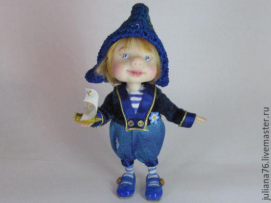 Коллекционные куклы ручной работы. Ярмарка Мастеров - ручная работа. Купить Кораблик желаний. Handmade. Маленькая куколка, коллекционная куколка