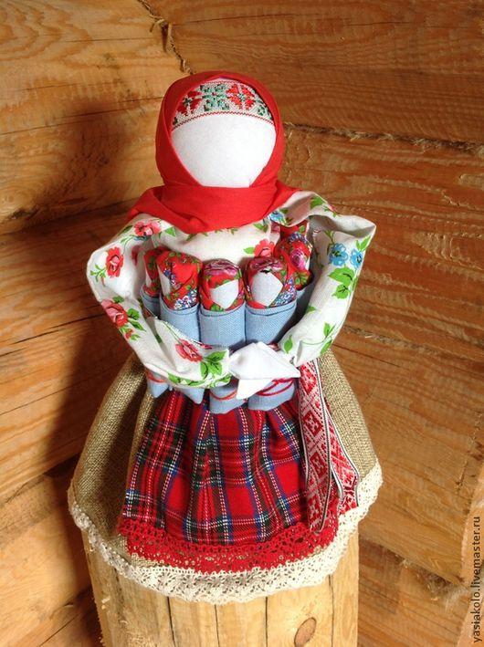 Народные куклы ручной работы. Ярмарка Мастеров - ручная работа. Купить СемьЯ. Handmade. Традиционная кукла, русская традиция, тесьма