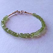 Украшения handmade. Livemaster - original item Bracelet with peridot. Handmade.