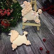"""Сувениры и подарки ручной работы. Ярмарка Мастеров - ручная работа Пряник """"Пудель"""" символ нового года. Handmade."""