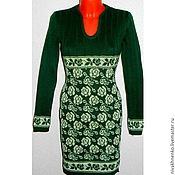 Одежда ручной работы. Ярмарка Мастеров - ручная работа Вязаное платье теплое Розочки. Handmade.