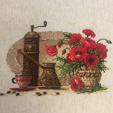 Картины и панно ручной работы. Ярмарка Мастеров - ручная работа Кофе и маки. Handmade.
