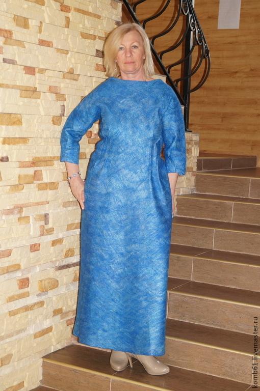 """Платья ручной работы. Ярмарка Мастеров - ручная работа. Купить Платье """" Cornflower"""". Handmade. Синий, одежда для женщин"""
