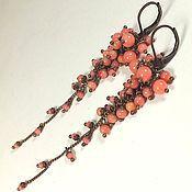 Украшения handmade. Livemaster - original item Coral Parfait. Earrings.. Handmade.