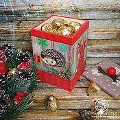 """Короб ручной работы. Ярмарка Мастеров - ручная работа Короб для хранения сладостей """"Скандинавское Рождество"""". Handmade."""