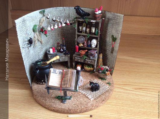 фото миниатюры ручной работы ` домик ведьмы`