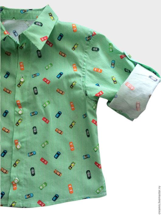Одежда для мальчиков, ручной работы. Ярмарка Мастеров - ручная работа. Купить Рубашка для мальчика. Handmade. Разноцветный, на каждый день