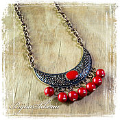 Украшения handmade. Livemaster - original item Necklace with coral,