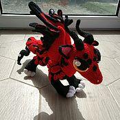 Мягкие игрушки ручной работы. Ярмарка Мастеров - ручная работа Дракон Монарха, вязаная игрушка. Handmade.