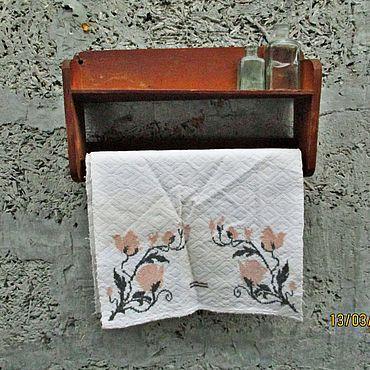 Vintage handmade. Livemaster - original item WOODEN HANGER WITH SHELF VINTAGE. Handmade.