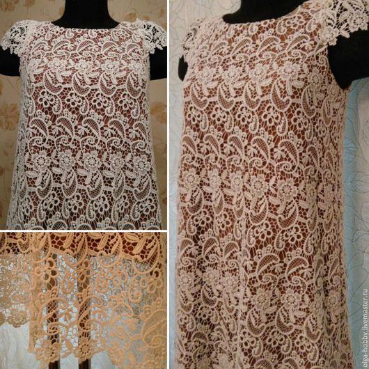 Платья ручной работы. Ярмарка Мастеров - ручная работа. Купить Платье летнее. Handmade. Бежевый, недорого