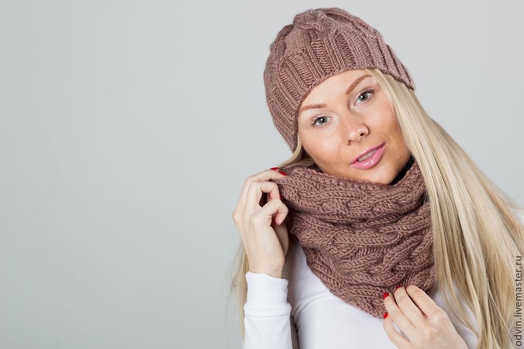 Шапка и шарф снуд связать своими руками 67