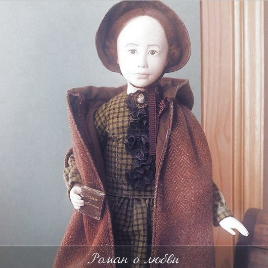 Авторская коллекционная кукла выполнена по классическому роману Шарлотты Бронте `Джейн Эйр` Единственный экземпляр