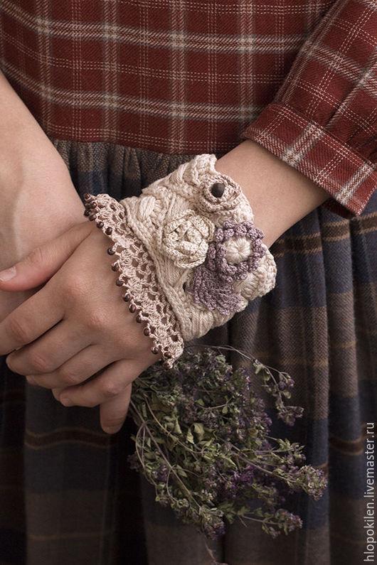 """Браслеты ручной работы. Ярмарка Мастеров - ручная работа. Купить Браслет  в стиле бохо """"Сream roses"""". Handmade. Кремовый, браслет"""