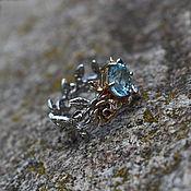 Украшения handmade. Livemaster - original item A ring with a blue Topaz,