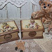 """Для дома и интерьера ручной работы. Ярмарка Мастеров - ручная работа Шкатулочки """"Мишки"""". Handmade."""