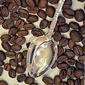 Посуда handmade. Livemaster - original item Silver coffee spoon