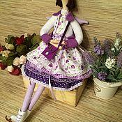 """Куклы и игрушки ручной работы. Ярмарка Мастеров - ручная работа Кукла тильда """"Девочка Фигуристка"""" фея ангел. Handmade."""