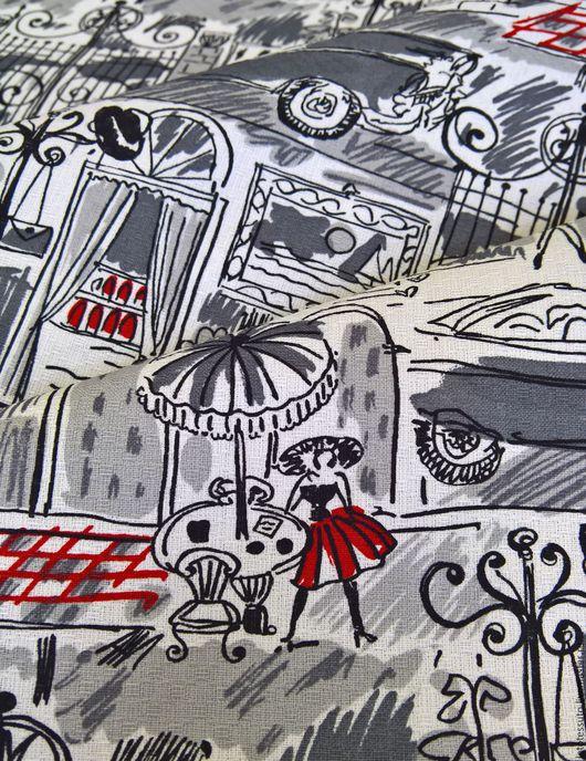 """Шитье ручной работы. Ярмарка Мастеров - ручная работа. Купить Костюмно-плательный хлопковый жаккард """"Городок"""" Италия. Handmade."""