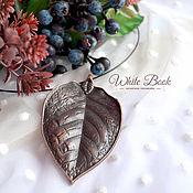 Украшения handmade. Livemaster - original item Choker necklace with leaf pendant, leaf, copper pendant. Handmade.