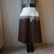 """Одежда ручной работы. Ярмарка Мастеров - ручная работа Валяная юбка """"Альпака в горах"""". Handmade."""