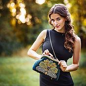Сумки и аксессуары handmade. Livemaster - original item Evening handbag clasp. Velvet clasp bag.. Handmade.