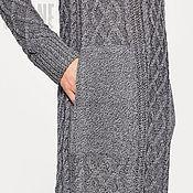 """Одежда ручной работы. Ярмарка Мастеров - ручная работа Платье серое вязаное """"GUNMETAL"""" серое платье серое платье серое платье. Handmade."""