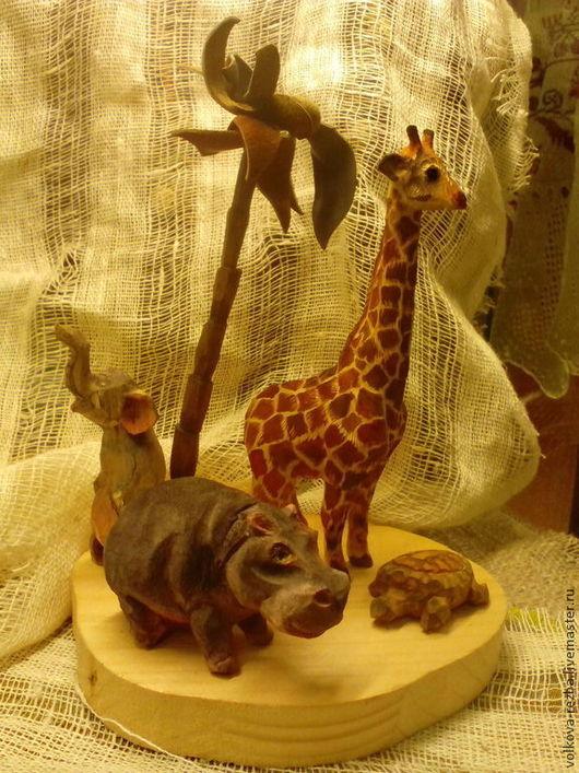 Игрушки животные, ручной работы. Ярмарка Мастеров - ручная работа. Купить Жираф- Резьба по дереву. Handmade. Разноцветный, фигурки животных
