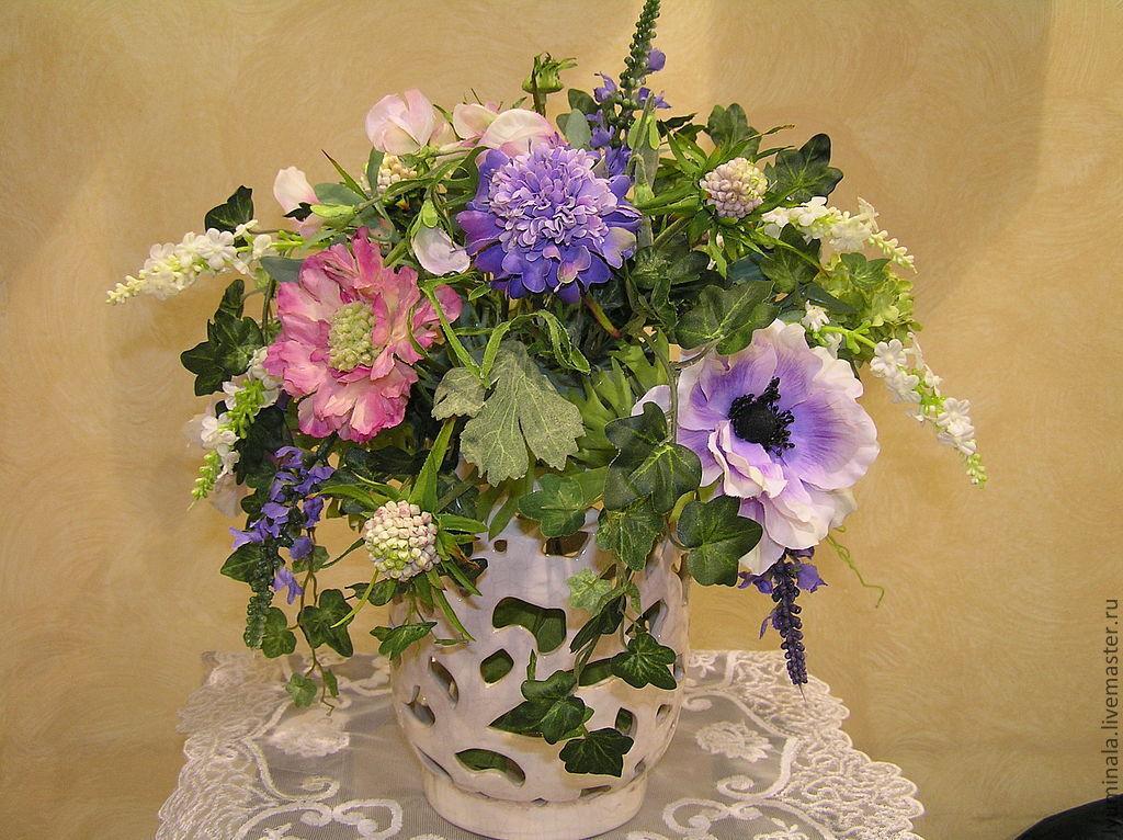 Букет из искусственных цветов мастер класс