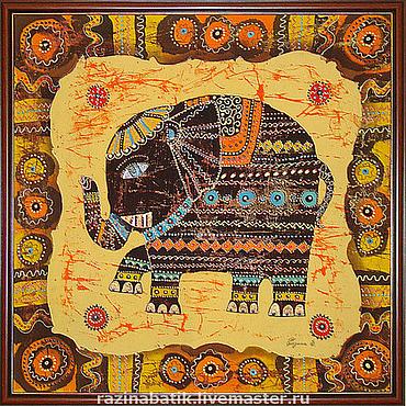 Картины и панно ручной работы. Ярмарка Мастеров - ручная работа Индийский слон. Handmade.