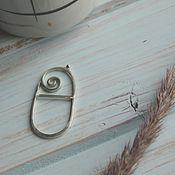 Украшения ручной работы. Ярмарка Мастеров - ручная работа Кольцо из серебра Скрепка. Handmade.