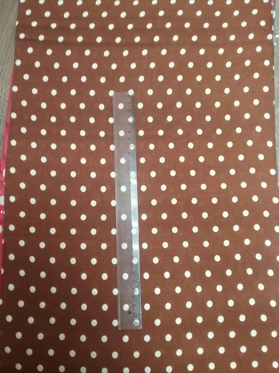 Ткань штапель горох  коричневый   НА 10.1, Ткани, Москва,  Фото №1