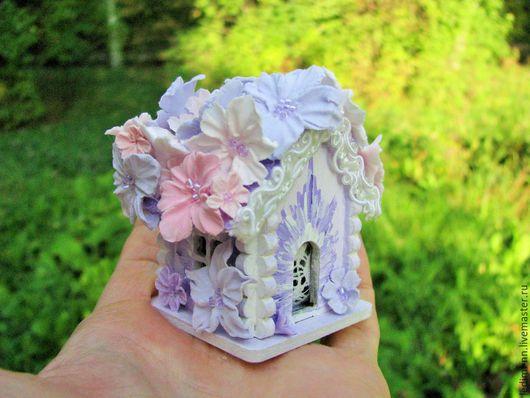 Миниатюра, кукольная миниатюра, домик Фея, с подсветкой, кукольный домик, миниатюра ночник, мини домик, подарок для девочки, миниатюрный сад, мини сад, подарок девочке, миниатюра домик, сиреневый
