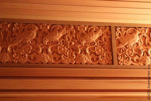"""Банные принадлежности ручной работы. Ярмарка Мастеров - ручная работа. Купить Декор из красного дерева """"Райские птицы"""". Handmade."""