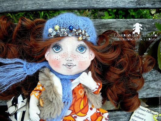 Коллекционные куклы ручной работы. Ярмарка Мастеров - ручная работа. Купить Осень пришла! Маленькая текстильная кукла.. Handmade. Рыжий