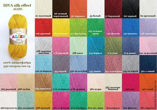 Diva silk effect Alize пряжа из микрофибры для чувствительной кожи пряжа дива силк эффект ализе