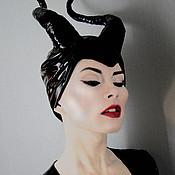 Одежда ручной работы. Ярмарка Мастеров - ручная работа Малефисента Рожки на голову. Handmade.