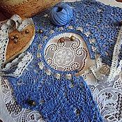 Аксессуары handmade. Livemaster - original item Collar crocheted removable fishnet lovers of boho. Handmade.