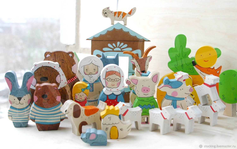 Развивающие игрушки ручной работы. Ярмарка Мастеров - ручная работа. Купить Набор Наши сказки. Handmade. Развивающая игрушка, бук