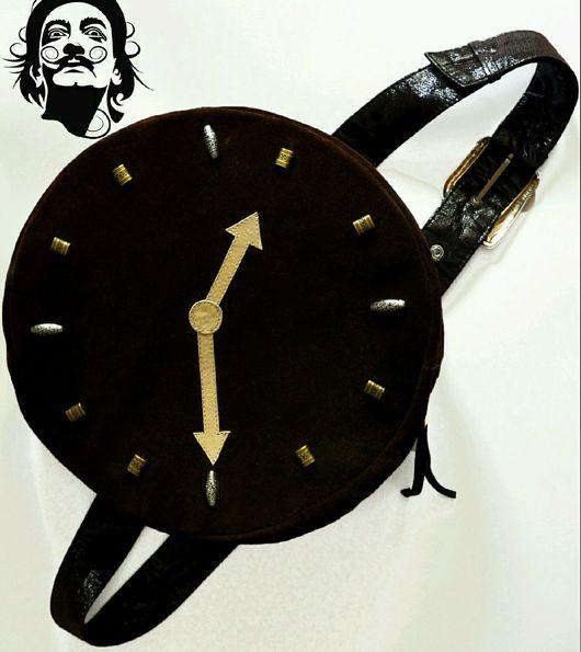 """Женские сумки ручной работы. Ярмарка Мастеров - ручная работа. Купить Креативная сумка """"Часы Дали"""" из натуральной замши ручная работа. Handmade."""