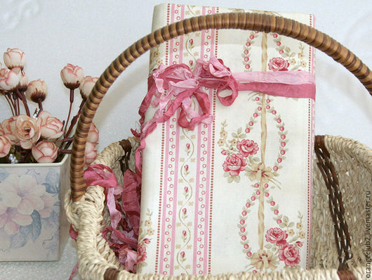 Шитье ручной работы. Ярмарка Мастеров - ручная работа. Купить Американская ткань розы бордюр. Handmade. Ткань, американские ткани