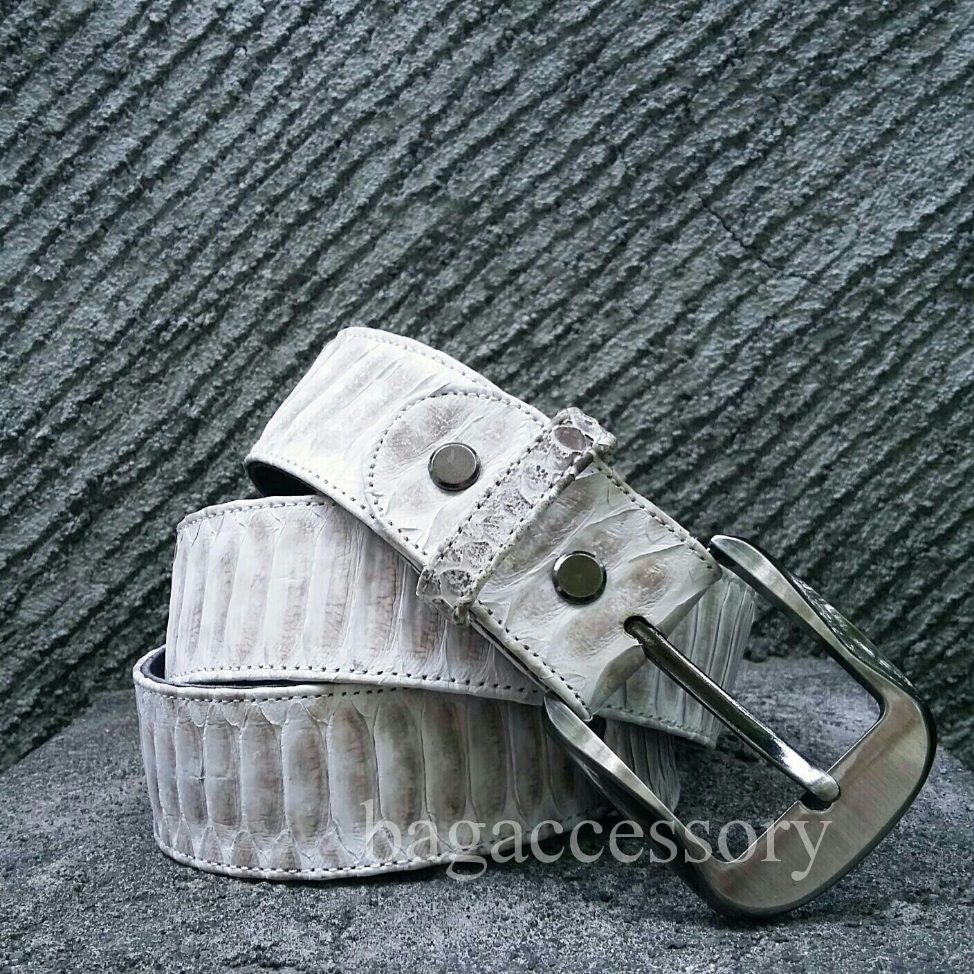Belt made of genuine Python leather, Straps, Moscow,  Фото №1