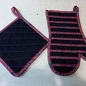 Для дома и интерьера ручной работы. Ярмарка Мастеров - ручная работа джинсовая прихватка. Handmade.