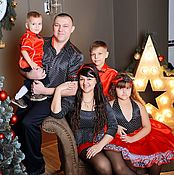 """Одежда ручной работы. Ярмарка Мастеров - ручная работа Одежда для всей семьи """"Красно-черно-белый цвет"""". Handmade."""