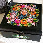 Именные сувениры ручной работы. Ярмарка Мастеров - ручная работа Шкатулка с персональным фото. Handmade.
