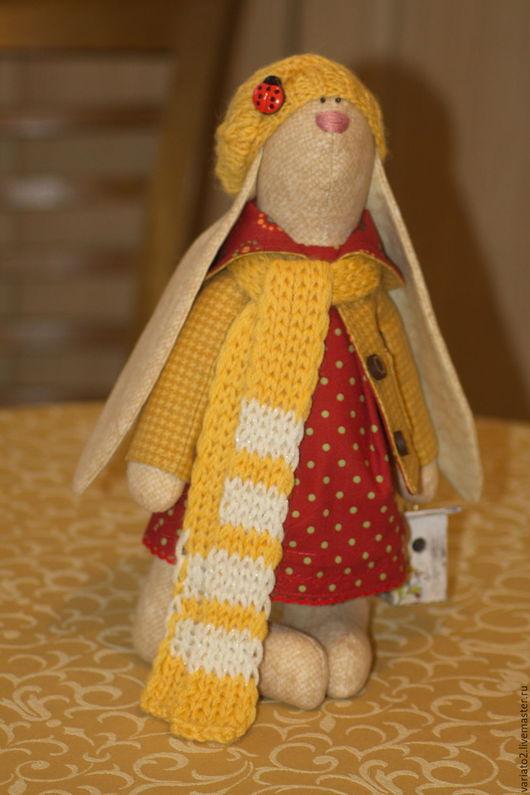 Куклы Тильды ручной работы. Ярмарка Мастеров - ручная работа. Купить Зайчиха Софья. Handmade. Желтый, ярко-красный, скворечник