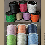 Шнуры ручной работы. Ярмарка Мастеров - ручная работа Вощёный шнур для украшений, разные цвета. Handmade.