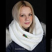 Аксессуары handmade. Livemaster - original item Snood with brooch. Handmade.
