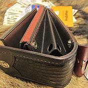 Сумки и аксессуары handmade. Livemaster - original item Something on the belt.S-Fold v Srocodile.2.2. RFID Protection for cards. Handmade.